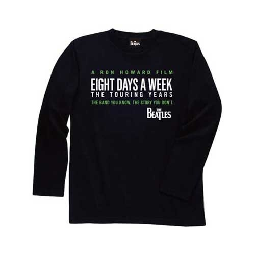 ザ・ビートルズ / The Beatles Eight Days A Week Logo Black Long Sleeve Tee【Tシャツ】