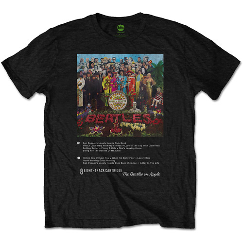ザ・ビートルズ / The Beatles Sgt Pepper 8 Track Mens Black Tshirt【Tシャツ】【メンズ】