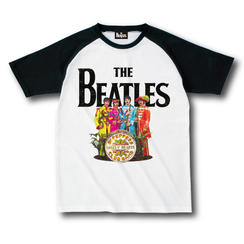 ザ・ビートルズ / The Beatles Sgt. Pepper's Lonely Hearts Club Band 50th Raglan A White