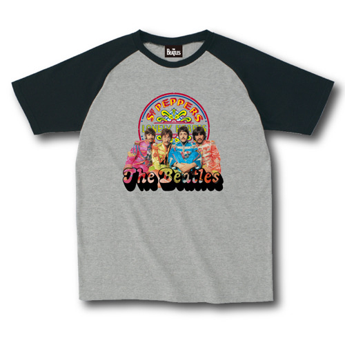 ザ・ビートルズ / The Beatles Sgt. Pepper's Lonely Hearts Club Band 50th Raglan B Grey