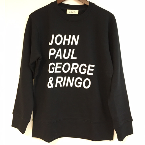 ザ・ビートルズ / The Beatles John Paul George & Ringo Sweat Shirt Black【スウェットシャツ】
