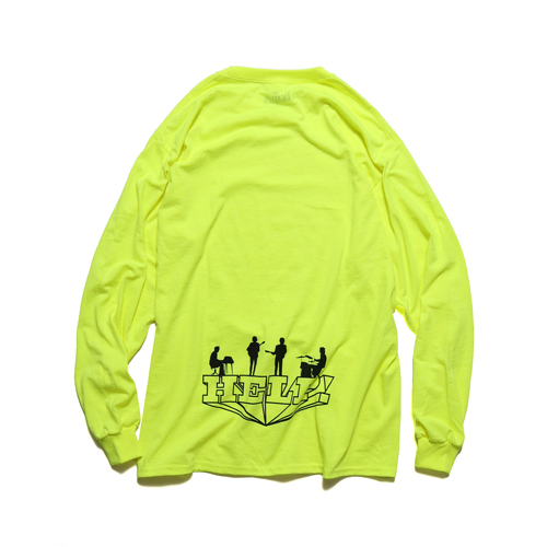 ザ・ビートルズ / Help! Silhouette Back Printed L/S Tee Yellow (T-Shirt / Yellow)