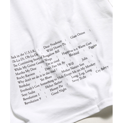 ザ・ビートルズ / White Album Silhouette Song Titles Back L/S Tee Yellow (T-Shirt / Yellow)
